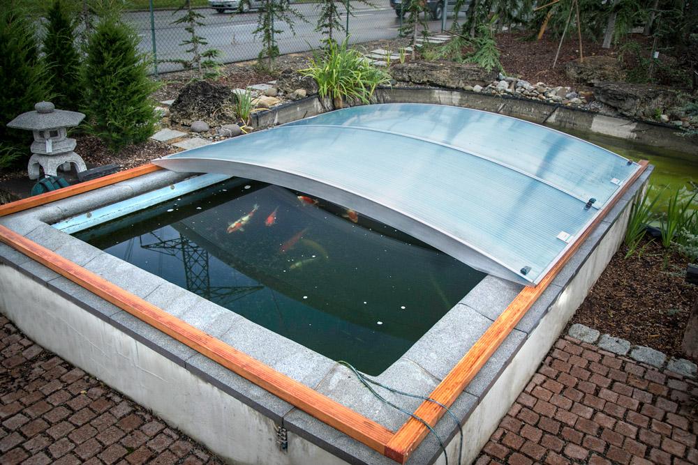 FlexiRoof - Abris de bassin à carpes Koi - Abris de bassin à carpes Koi